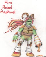 Fire Rebel Raphael by The-tessen-kunoichi