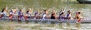 Side view Dragon Boat  2 by OhioErieCanalGirl