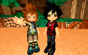 Chibi Ventus and Vanitas DL by MadameMidnightRose