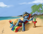 Commission - Swag on the Beach by atryl