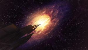 Approaching the Galaxy Matte Painting by BenHinman