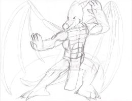 Dragon Fighting Stance by remanlongtail