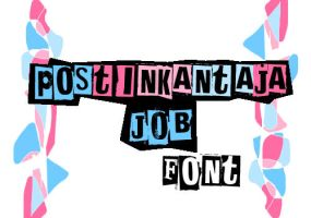 Postinkantaja Job font by iwannaknowyou