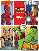 50 Years of Spider-Man Hulk Thor Ant-Man Iron Man by IAMO76