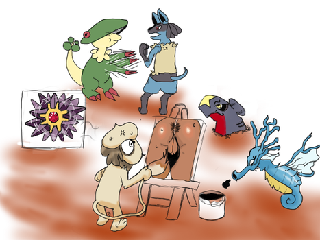Colorpoketeampose by Keatto