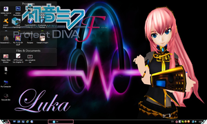 My Project Diva F Luka Wallpaper/Desktop by PharaohAtisLioness
