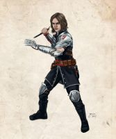 Winter Soldier in Dragon Age by slugette