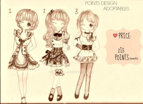 CHEAP POINTS DESIGN ADOPTABLES by applefia