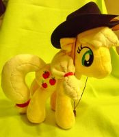 AppleJack Plush Commission by Sparkle-And-Sunshine