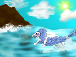 Fly like the WIND!!! - contest entry#2 for Drerika by Crimson-Flazey