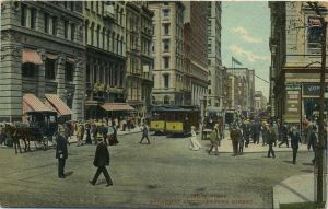 Broadway and Chambers Street - Street-Cars-copy by lichtie