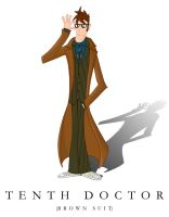 Tenth Doctor in brown suit by tibots