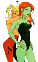 Harley and Ivy by LinART