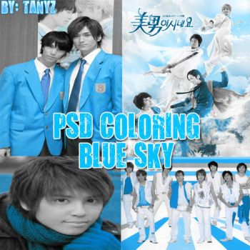 .PSD Coloring BLUE SKY by Briixday
