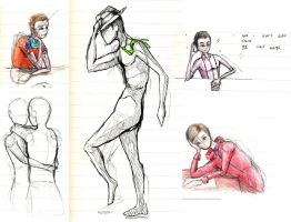 Glee sketches 3 by HorizontalProjection