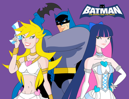 Batman Brave and The Bold feat. Panty and Stocking by RyomaGod