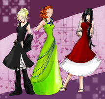 Elemental Formal Dresses by AzerathinPrincess