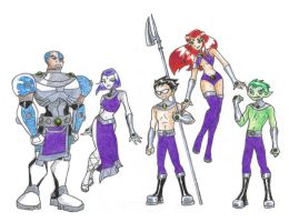 Teen Titans Tamaranian Style by ChocolateOverlander