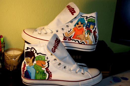 gorillaz shoes by 6thOfNovember