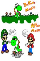 Before and After Mario by Zesty-Tacos