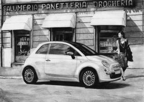 Fiat 500 by tajus