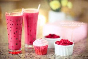 Raspberry Smoothies by thesashabell