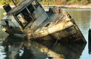 Beached Boat by KeyLogs