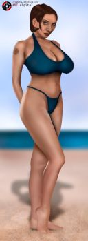 Linsey at the beach by Artdigital