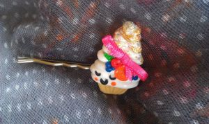 Marie Antoinette Inspired Cupcake Bobby Pin by Gynecology