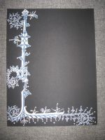Ice Castles Scroll Blank by Merwenna