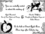 Mac and Cheerilee's wedding invite by bronybyexception