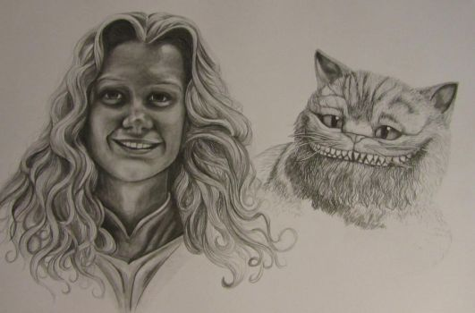 Alice in wonderland drawing by starfishenterprise