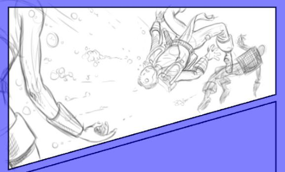 detailed thumbnail sketch for panel one by Uzaele