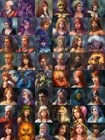 portraits by Zero-Position-Art