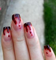 Bloody Nails by flightlessBird91