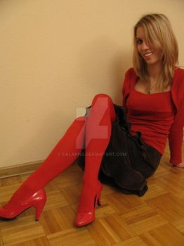 Lady in red by calanna