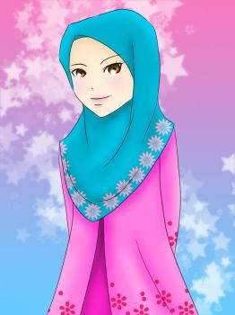 Blue and Pink by adhwa