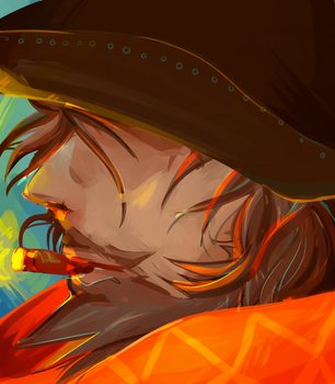 Mccree overwatch by Madradiohead