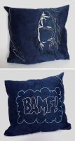 nightcrawler pillow by lizardberry