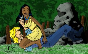 Pocahontas tickle fight by solletickle