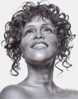 Whitney Houston Tribute by ArtByBryanna