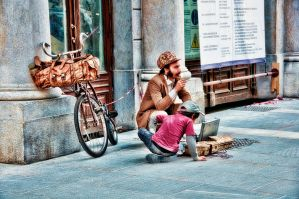 On The Street, Together by Michela-Riva