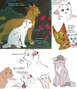 Leafpaw doodles by ArualMeow
