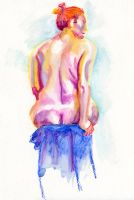 Untitled Figure Drawing I by scheherazade