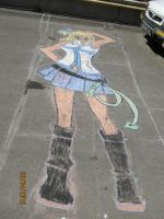 Lucy from Fairy Tail Chalk: Finished by TuDoRlUcIa