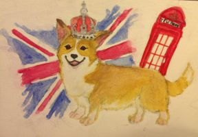 Corgi in London by HeartofSummer