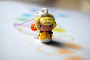 Polymer Clay Rin Kagamine Chibi by FatCatCharms