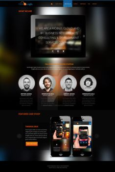 Case Study for a Mobile App Firm / Who We Are by nightcreatives