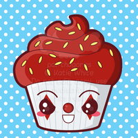 Killer Clown Cupcake by pai-thagoras