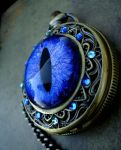 Sovereign - Light Blue Pocket Watch Time Piece by LadyPirotessa